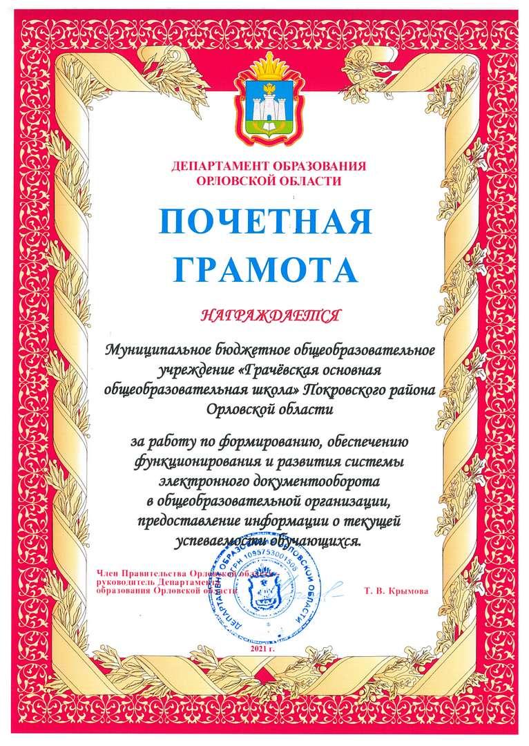 Грачёвская ООШ Покровского
